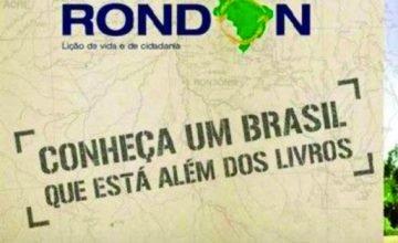 Estão abertas as inscrições para o Projeto Rondon