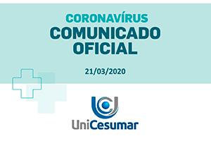 Nota Oficial | Medidas preventivas contra o Coronavírus