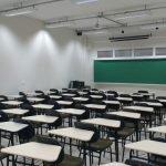 Vista interna da sala de aula