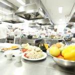 Cozinha industrial do curso de Gastronomia