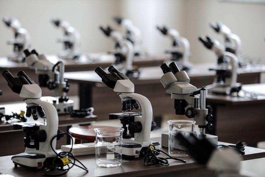 Laboratório de análise microscópica