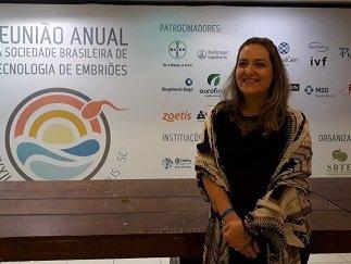 Profa. Dra. Isabele Picada Emanuelli do Mestrado em Tecnologias Limpas participa da XXXII Reunião Anual da Sociedade Brasileira de Tecnologia de Embriões(SBTE), Florianópolis/SC, Agosto/2018