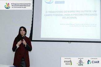 Profª Amanda Figueroa participa do III Congresso de Psicomotricidade Relacional e XIV Fórum Municipal de Educação, em Curitiba.(Set/2018)