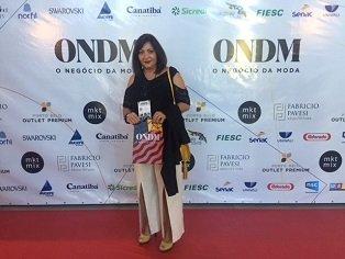 Profa. e Coord. do curso de Moda Loeci Fatima Scapinello, participou do evento ONDM - O Negócio da Moda em Camboriu/SC, Setembro/2018