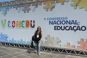 Profª. Drª. Adriana Ortiz publica trabalho científio no V CONEDU, em Olinda. (out/2018)