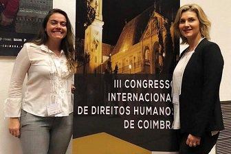 Profª Drª Juliana Feriato do Mestrado em Ciências Jurídicas, participou do 3º Congresso Internacional  de Direitos Humanos, em Coimbra (out/2018)