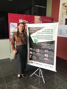 Mestranda da UniCesumar participa doIII Fórum Nacional de Clínicas Jurídicas e X Encontro da Rede Amazônica de Clínicas de Direitos Humanos