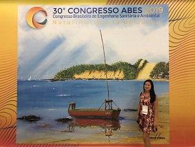 Professora do Mestrado em Tecnologias Limpas apresenta trabalho no Congresso Brasileiro de Engenharia Sanitária Ambiental