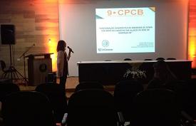 Bolsista PIBIC do curso de Biomedicina, Giandra Azolini, participa do 9º Congresso Paranaense de Ciências Biomédicas, em Londrina (PR)