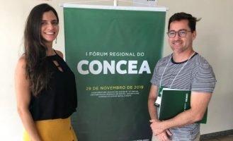 Dr. Marcelo Bernuci e Me. Carolina Quarterone, membros da Comissão de Ética no Uso de Animais (CEUA), participam do 1º Fórum Regional do Conselho Nacional de Experimentação Animal (Concea), em Goiás