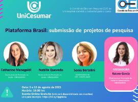 """Aberta as inscrições para o curso """"Plataforma Brasil: submissão e tramitação de projetos de pesquisa (online)"""""""
