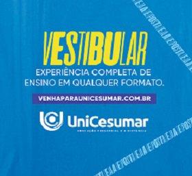 UniCesumar está com inscrições abertas para vestibular de inverno