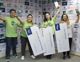 Alunas da Unicesumar de Curitiba conquistam o Hackathon Paraná 2017