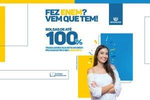 """""""Fez Enem? Vem que tem!"""": UniCesumar de Curitiba oferece bolsas de estudo e facilita o sonho de ser universitário"""