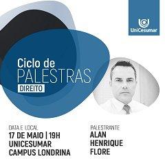 Alan Flore palestra sobre Combate à Corrupção na UniCesumar