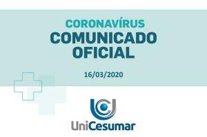 Comunicado Oficial - Ensino Presencial (16/03/2020)