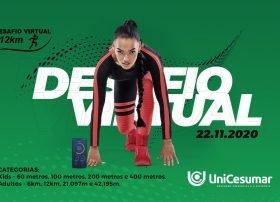 Incentivando a prática de esportes, UniCesumar e Clube 12 KM promovem corrida virtual