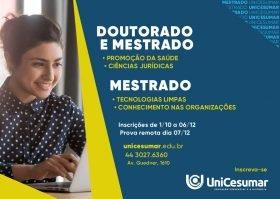 UniCesumar está com inscrições abertas para mestrado e doutorado