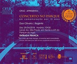 Concerto OFUC no Parque do Ingá