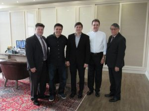 Na foto: Paulo Gonçalves, Beto Haddad, Wilson Filho, Don Anuar Batisti e Wilson Matos da Silva.