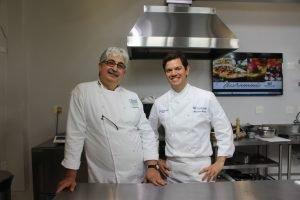 Chef Almir da Fonseca e o coordenador Alexandre Gimenes
