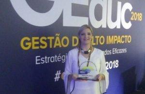 Isabela Quaglia, coordenadora do polo de Maringá, inscreveu o case de sucesso para concorrer ao Prêmio