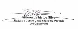 Assinatura Reitor Wilson