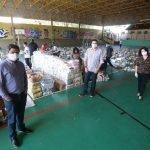 Preparação das cestas básicas