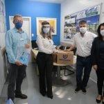 """Doação de máscaras """"face shields"""" em Paranavaí"""