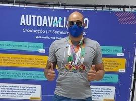 Estudante da UniCesumar conquista três medalhas na Paralimpíada Universitária