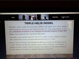 """As professoras. Dra. Rejane Sartori e Dra. Hilka Machado, ambas docentes no Programa de Mestrado em Gestão do Conhecimento nas Organizações, participaram da """"XIX Triple Helix Conference"""" (Junho/2021)"""