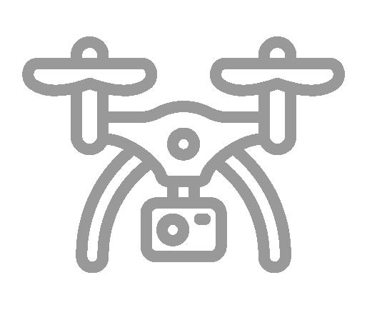 Captação de imagens com drone